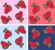 teste padrão do urso de peluche Imagem de Stock