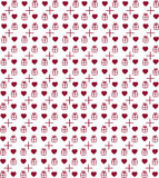 Teste padrão do Valentim do coração Imagens de Stock Royalty Free
