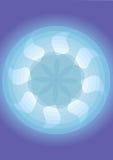 Teste padrão do ventilador com fundo azul Imagens de Stock Royalty Free