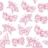 Teste padrão do verão da borboleta da aquarela Imagens de Stock