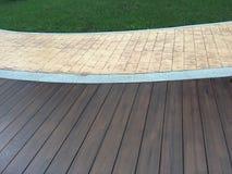 Teste padrão do verde, do tijolo e da madeira Fotos de Stock Royalty Free