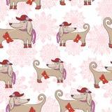 Teste padrão do vetor do cão da forma Fotos de Stock Royalty Free