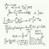 Teste padrão do vetor com fórmulas matemáticas Imagem de Stock Royalty Free