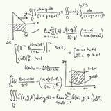 Teste padrão do vetor com fórmulas matemáticas Foto de Stock