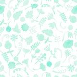 Teste padrão do vetor com flores e plantas ilustração do vetor