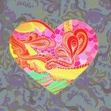 Teste padrão do vetor com forma do coração Imagens de Stock Royalty Free