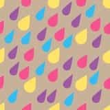 Teste padrão do vetor com gotas da chuva Fundo bonito sem emenda Sumário ilustração stock