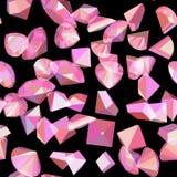 Teste padrão do vetor com grânulos e diamantes dos cristais ilustração stock