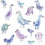 Teste padrão do vetor com pássaros ilustração stock
