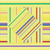 Teste padrão do vetor com quadrados alinhados Textura amarela abstrata Fotos de Stock Royalty Free