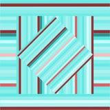 Teste padrão do vetor com quadrados alinhados Textura azul abstrata Imagens de Stock