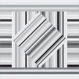 Teste padrão do vetor com quadrados alinhados Textura cinzenta abstrata Imagens de Stock Royalty Free