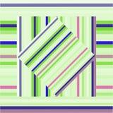 Teste padrão do vetor com quadrados alinhados Textura roxa e verde abstrata Imagem de Stock Royalty Free