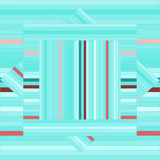 Teste padrão do vetor com quadrados alinhados Textura verde abstrata Fotos de Stock