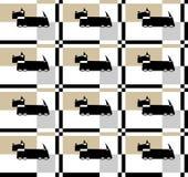 Teste padrão do vetor com Terrier escocês estilizado ilustração royalty free