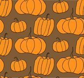 Teste padrão do vetor da abóbora de Dia das Bruxas Ilustração simples de abóboras do Dia das Bruxas para o fundo do página da web Imagem de Stock