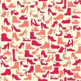 Teste padrão do vetor da Calçado-ilustração da forma Imagens de Stock Royalty Free