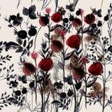 Teste padrão do vetor da flor com plantas Estilo do provance do vintage para o de Foto de Stock