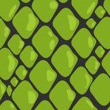 Teste padrão do vetor da pele de serpente verde ilustração stock
