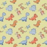 Teste padrão do vetor das crianças com os dinossauros bonitos engraçados ilustração do vetor