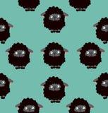 Teste padrão do vetor das ovelhas negras Imagens de Stock