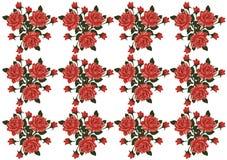 Teste padrão do vetor das rosas Imagens de Stock