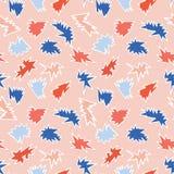 Teste padrão do vetor de Memphis Style Abstract Scribbles Seamless, garatuja tirada mão ilustração stock