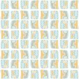 Teste padrão do vetor de Memphis Style Geometric Abstract Seamless ilustração royalty free