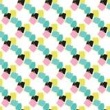 Teste padrão do vetor de Memphis Style Geometric Abstract Seamless ilustração do vetor