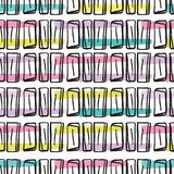 Teste padrão do vetor de Memphis Style Scribble Abstract Seamless, pop art tirado mão ilustração royalty free