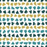 Teste padrão do vetor de Memphis Style Scribbles Stripes Seamless, garatuja tirada mão ilustração stock