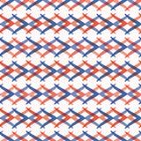 Teste padrão do vetor de Memphis Style Weave Stripes Seamless, linhas de bloqueio tiradas mão ilustração stock