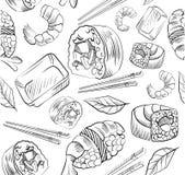 Teste padrão do vetor do sushi Fotografia de Stock Royalty Free