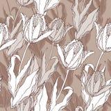 Teste padrão do vetor dos Tulips Imagens de Stock