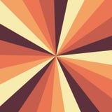 Teste padrão do vetor do fundo do Sunburst com uma paleta de cores do vintage do projeto listrado radial rodado Vintage ou retro ilustração stock