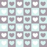 Teste padrão do vetor para o dia do ` s do Valentim Coração colorido do fundo nos quadrados Imagens de Stock Royalty Free