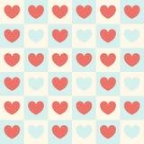Teste padrão do vetor para o dia do ` s do Valentim Coração colorido do fundo nos quadrados Imagem de Stock Royalty Free