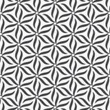 Teste padrão do vetor Repetir a flor abstrata geométrica da pétala da listra circundou na forma do hexágono ilustração do vetor