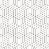Teste padrão do vetor textura à moda moderna Repetindo telhas geométricas Cubos monocromáticos listrados ilustração royalty free