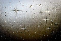 Teste padrão do vidro da estrela Fotos de Stock