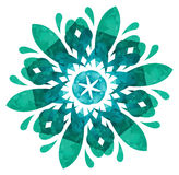 Teste padrão do Watercolour - flor abstrata Foto de Stock