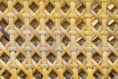 Teste padrão do Weave do fundo de bambu imagem de stock royalty free