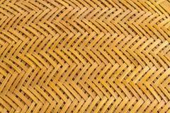 Teste padrão do Weave do fundo de bambu imagens de stock