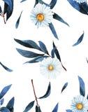 Teste padrão do Wildflower em um estilo da aquarela isolado ilustração do vetor