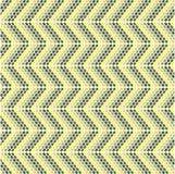 Teste padrão do ziguezague com modelos ovais Imagem de Stock Royalty Free