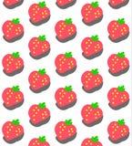 Teste padrão doce da morango Imagem de Stock
