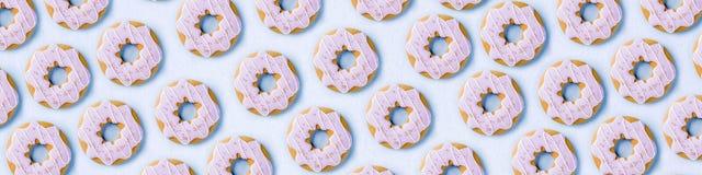 Teste padrão doce das cookies imagens de stock royalty free