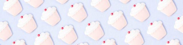 Teste padrão doce das cookies fotos de stock royalty free