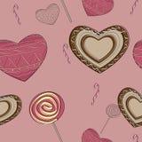 Teste padrão doce dos doces Ilustração Royalty Free