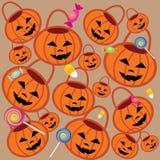 Teste padrão dois de Halloween Ilustração Stock